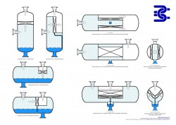 chevron vane separator vessel views